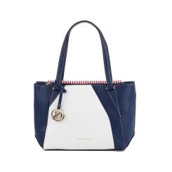 Женская классическая сумка синего цвета с белой вставкой от Fiato Dream, арт. 2024