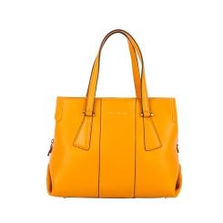 Ярко-желтая летняя женская сумка из натуральной кожи от Fiato Dream, арт. 2026