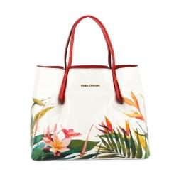 Белая женская сумка, украшенная ярким узором от Fiato Dream, арт. 2034