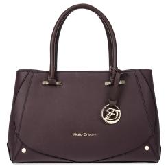 Бордовая женская сумка из натуральной кожи с тиснением Saffiano от Fiato Dream, арт. 2618-d179086