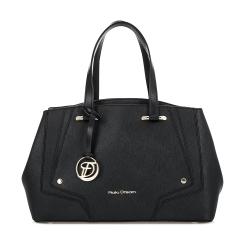 Деловая женская сумка из плотной натуральной кожи черного цвета от Fiato Dream, арт. 2627-d151970