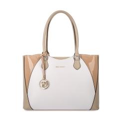 Белая женская сумка из натуральной кожи со вставками бежевого цвета от Fiato Dream, арт. 3002-d171372