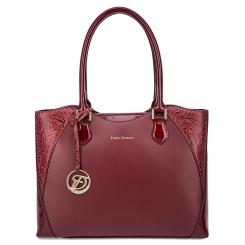 Стильная женская сумка бордового цвета из натуральной кожи от Fiato Dream, арт. 3002-d178718