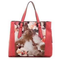 Вместительная женская красная сумка с цветочным рисунком от Fiato Dream, арт. 3007-d127356