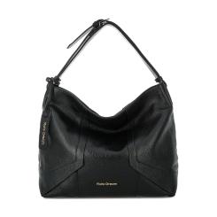 Женская кожаная сумка мешок черного цвета с широкой ручкой от Fiato Dream, арт. 3029-d151888