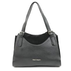 Оригинальная женская кожано-замшевая сумка черного цвета от Fiato Dream, арт. 3071