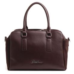 Вместительная классическая женская сумка из натуральной кожи и замши коричневого цвета от Fiato Dream, арт. 3631