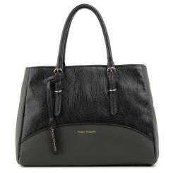 Классическая черно-серая сумка из натуральной кожи от Fiato Dream, арт. 3987