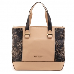 Светло коричневая женская сумка на плечо со вставками, украшенными рисунком от Fiato Dream, арт. 5023