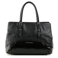 Стильная женская сумка из кожи со вставками с лаковым напылением от Fiato Dream, арт. 5212