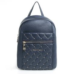 Синий женский кожаный рюкзак маленького размера с металлическими заклепками от Fiato Dream, арт. 5213