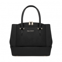 Черная женская кожаная сумка, выполненная в лаконичном стиле от Fiato Dream, арт. 6006