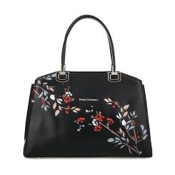 Стильная женская кожаная сумка с тремя отделениями, модель с узором от Fiato Dream, арт. 6011