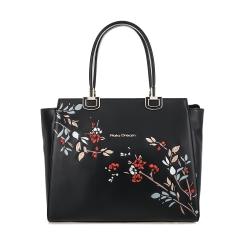 Классическая женская сумка из плотной натуральной кожи с цветочным узором от Fiato Dream, арт. 6013