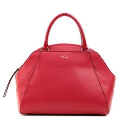 Женская кожаная сумка красного цвета с необычным дизайном от Fiato, арт. 5376