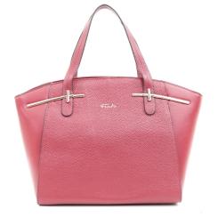 Розовая женская сумка с длинными ручками и золотистой фурнитурой от Fiato, арт. 5432-d130167
