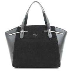 Женская сумка оригинальной формы из натуральной замши и кожи от Fiato, арт. 5432-d130349