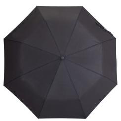 Мужской зонт автомат, модель с куполом однородного черного цвета от Flioraj, арт. 017 FJ Flioraj