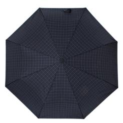 Стильный мужской зонт автомат, синего цвета с принтом в клетку от Flioraj, арт. 017001 FJ