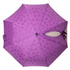 Женский зонт лилового цвета с эффектом проявления рисунка при намокании  от Flioraj, арт. 20004 FJ