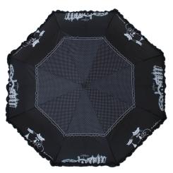 Черный женский зонт автомат с большим куполом  от Flioraj, арт. 250103 FJ