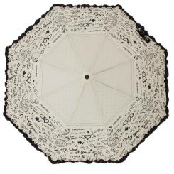 Серый женский зонт с объемной оборкой по краю купола от Flioraj, арт. 250108 FJ