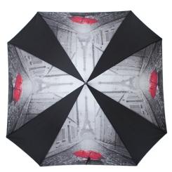 Стильный женский зонт с куполом квадратной формы со вставками от Flioraj, арт. 290403 FJ