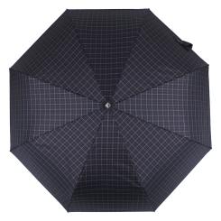 Мужской зонт автомат синего цвета, с принтом в мелкую клетку от Flioraj, арт. 00900301 FJ