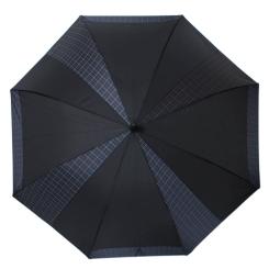 Мужской зонт трость черного цвета, с каркасом из фибергласса от Flioraj, арт. 232302 FJ