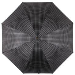 Стильный мужской зонт трость черного цвета, с принтом в клетку от Flioraj, арт. 23242 FJ