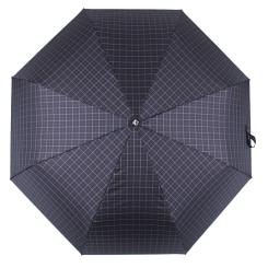 Мужской зонт автомат синего цвета, с принтом в мелкую клетку от Flioraj, арт. 3100201 FJ