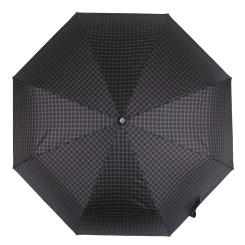Мужской зонт автомат черного цвета, с принтом в мелкую клетку от Flioraj, арт. 3100202 FJ
