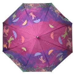 Женский зонт-трость с эффектным проявляющимся рисунком от Flioraj, арт. 121209 FJ