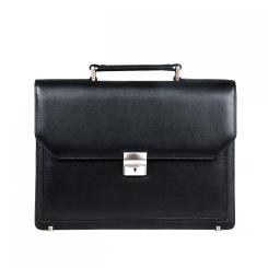 Деловой мужской портфель для документов, выполнен из натуральной кожи от Franchesco Mariscotti, арт. AB18818