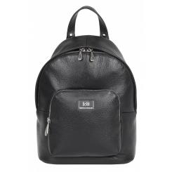 Практичный женский городской рюкзак из черной натуральной кожи от Franchesco Mariscotti, арт. AB21180