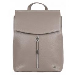 Элегантный женский городской рюкзак из бежевой натуральной кожи от Franchesco Mariscotti, арт. AB21230