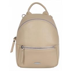 Маленький кожаный женский городской рюкзак, модель бежевого цвета от Franchesco Mariscotti, арт. AB21252