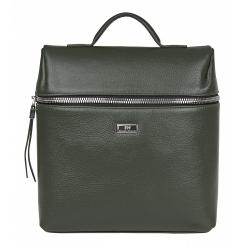 Стильный маленький женский городской рюкзак из натуральной кожи цвета хаки от Franchesco Mariscotti, арт. AB21544