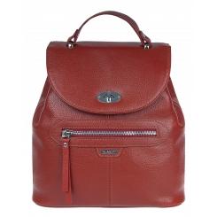 Стильный женский городской рюкзак из натуральной кожи кораллового цвета от Franchesco Mariscotti, арт. AB21867