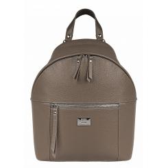 Удобный кожаный женский городской рюкзак, модель цвета капучино от Franchesco Mariscotti, арт. AB21877