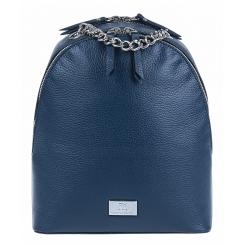 Модный маленький женский городской рюкзак из синей натуральной кожи от Franchesco Mariscotti, арт. AB21963
