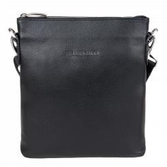 Маленькая мужская сумка планшет из натуральной кожи, черного цвета от Franchesco Mariscotti, арт. AB19917
