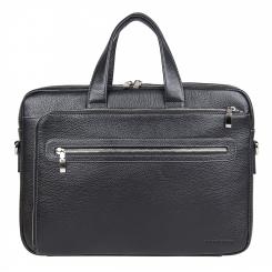 Удобная мужская деловая сумка из натуральной кожи, черного цвета от Franchesco Mariscotti, арт. AB20041