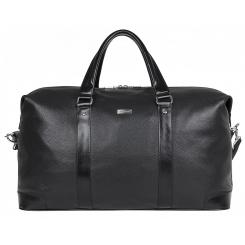 Дорожная женская сумка из натуральной кожи, черного цвета, с одним отделом на молнии от Franchesco Mariscotti, арт. AB20825