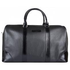 Вместительная дорожная женская сумка из натуральной кожи, черного цвета от Franchesco Mariscotti, арт. AB22406