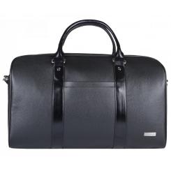 Дорожная женская сумка из натуральной кожи, черного цвета, с плечевым ремнем от Franchesco Mariscotti, арт. AB22407