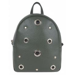 Маленький городской женский рюкзак из натуральной кожи, цвета хаки от Franchesco Mariscotti, арт. AB22429