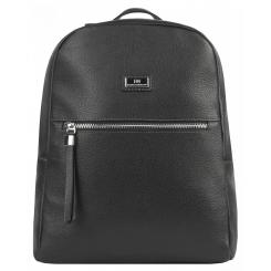 Вместительный городской женский рюкзак из натуральной кожи, черного цвета от Franchesco Mariscotti, арт. AB22580