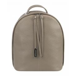 Бежевый женский рюкзак из натуральной кожи с модными поводками от Franchesco Mariscotti, арт. AB22814
