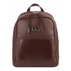 Городской женский кожаный рюкзак вишневого цвета от Franchesco Mariscotti, арт. AB22956